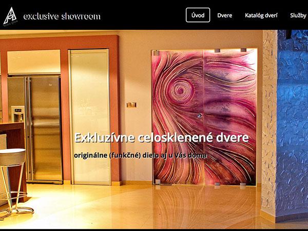Webová vizitka Exkluzívne celosklenené dvere