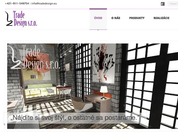 Nové webové stránky Trade Design