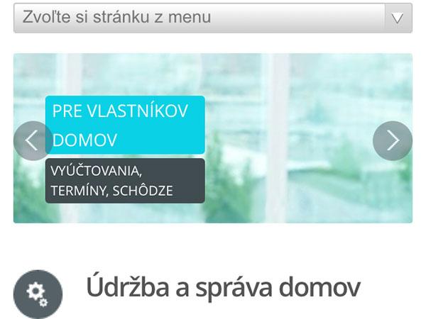 Mobilná aplikácia ÚDRŽBA DOMOV