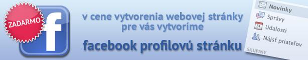 Facebook profil v cene webu