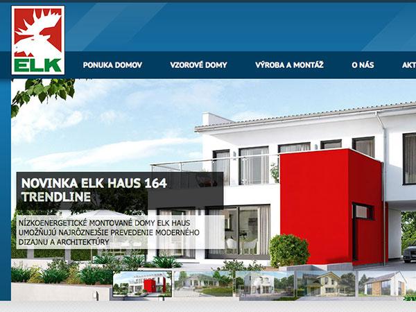 Webové stránky ELK - Acker