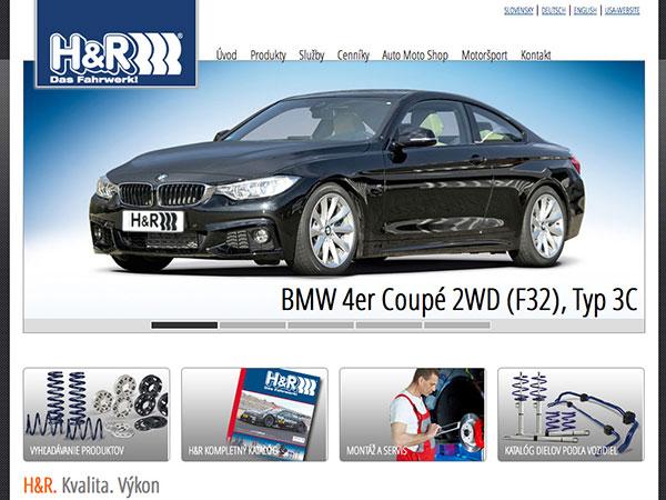 Webové stránky H&R