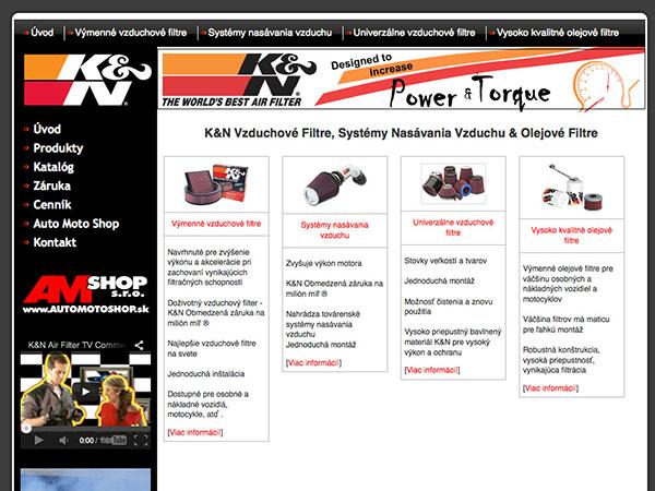 Webové stránky K&N