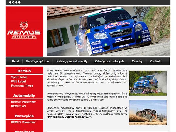 Webové stránky REMUS