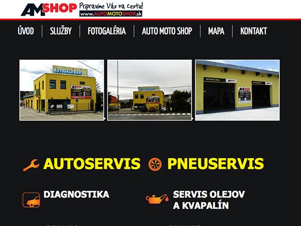 Webové stránky AM Shop servis
