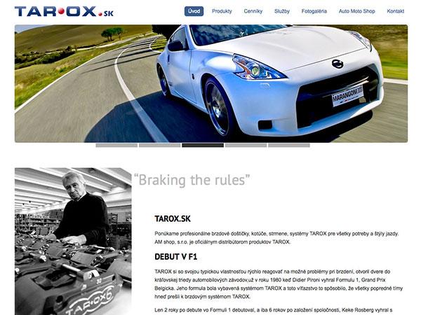 Webové stránky Tarox