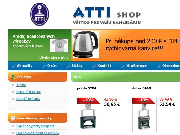 Internetový obchod ATTI v.2