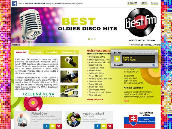 Webové stránky Best FM Rádia v.2