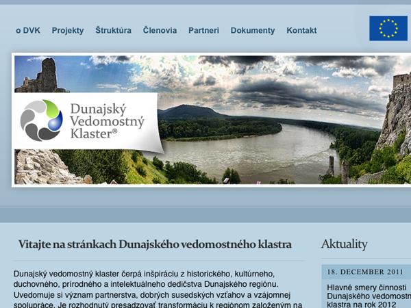 Webové stránky Dunajský vedomostný klaster