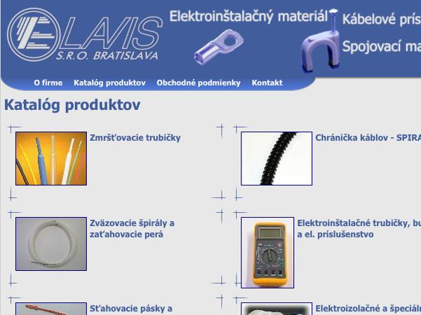 Webové stránky Elavis