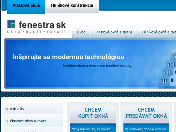 Webové stránky Fenestra sk