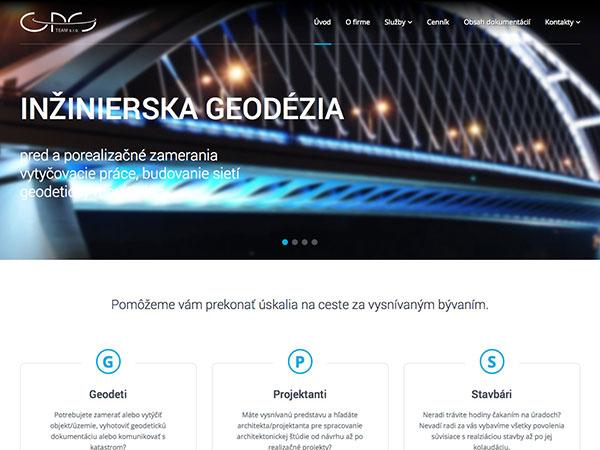 Rozšírenie web stránok GPS TEAM