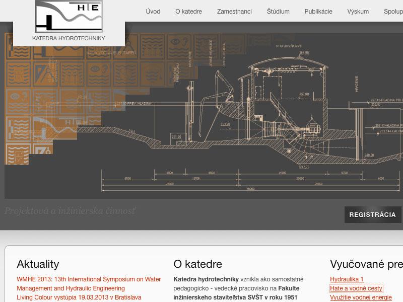 Webové stránky KHTE SvF STU