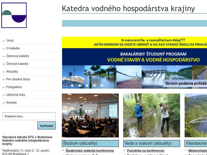 Redizajn webových stránok KVHK SvF STU