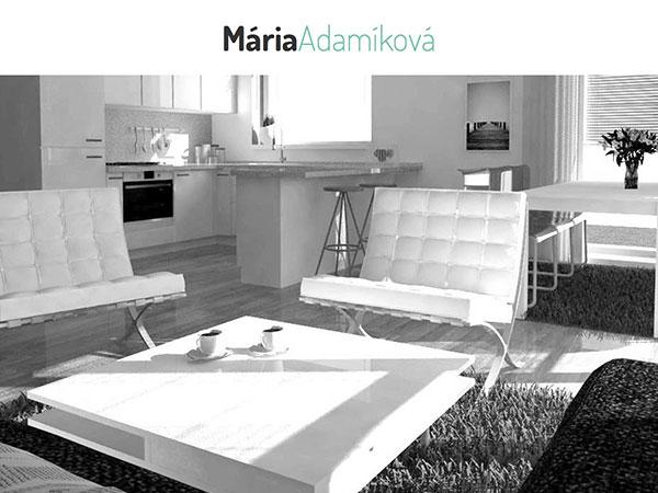 Webová vizitka Ing. arch. Mária Adamíková