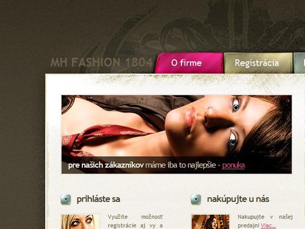 Webové stránky MH FASHION 1804