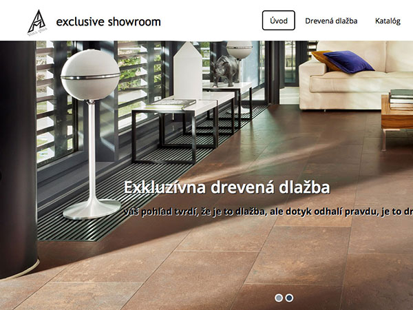 Webová vizitka Drevená interiérová dlažba