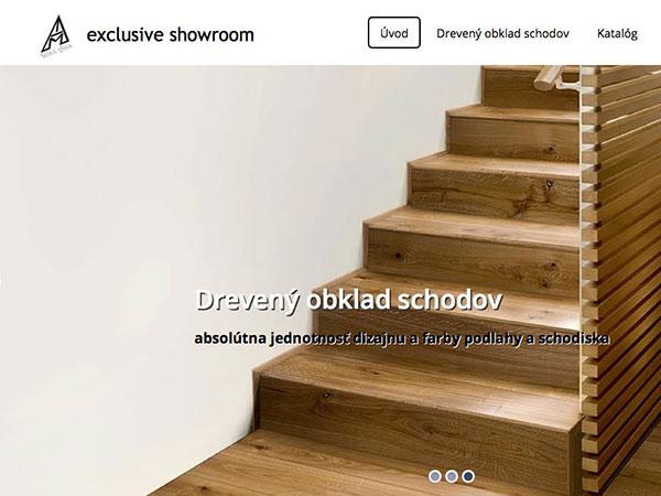 Webová vizitka Drevený oklad schodov