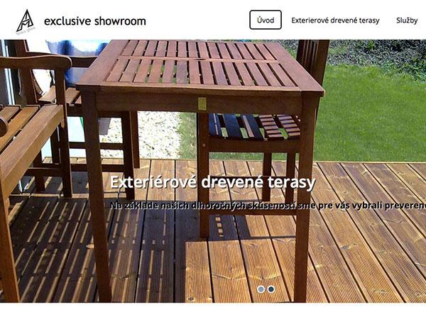 Webová vizitka Drevené exteriérové terasy