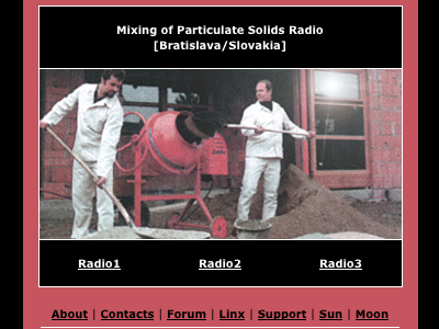 Webové stránky Mixing of Particulate Solids Radio