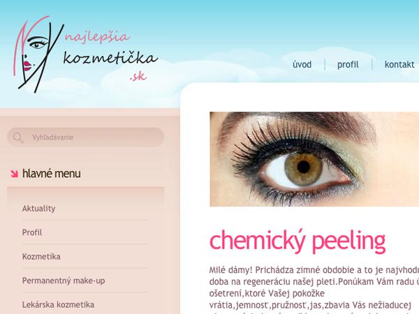 Redizajn webových stránok Najlepšia kozmetička