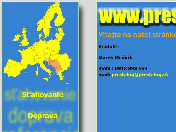 Webová vizitka Prestahuj.sk