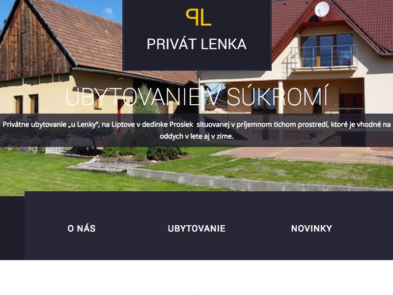 Webové stránky Privát Lenka