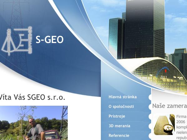 Webové stránky S-GEO