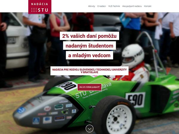 Webová vizitka Nadácia STU