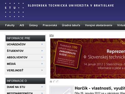 Redizajn webovej stránky STU