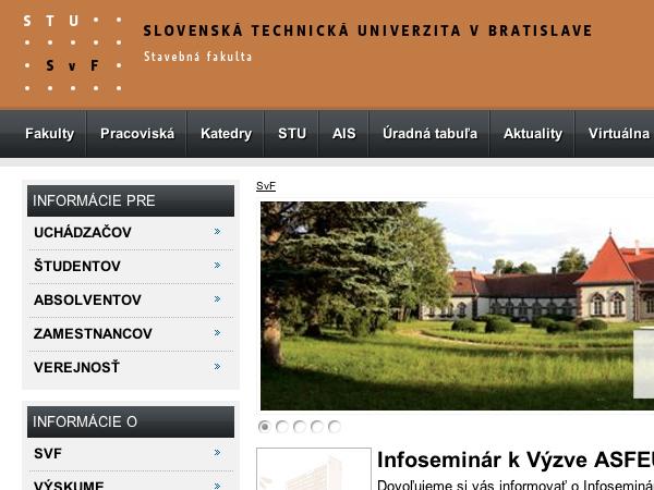 Redizajn webových stránok fakúlt STU