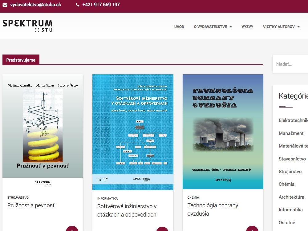 Internetový obchod Vydavateľstva Spektrum STU