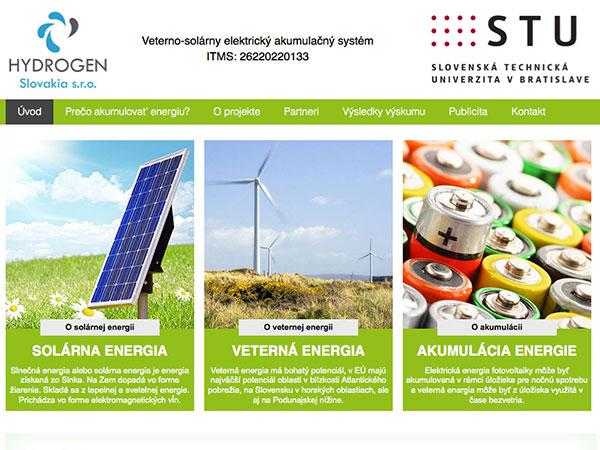 Webové stránky projektu Veterno-solárny elektrický akumulačný systém