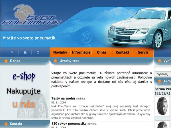 Internetový obchod Svet pneumatík