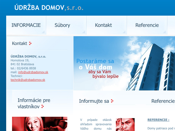 Webové stránky ÚDRŽBA DOMOV