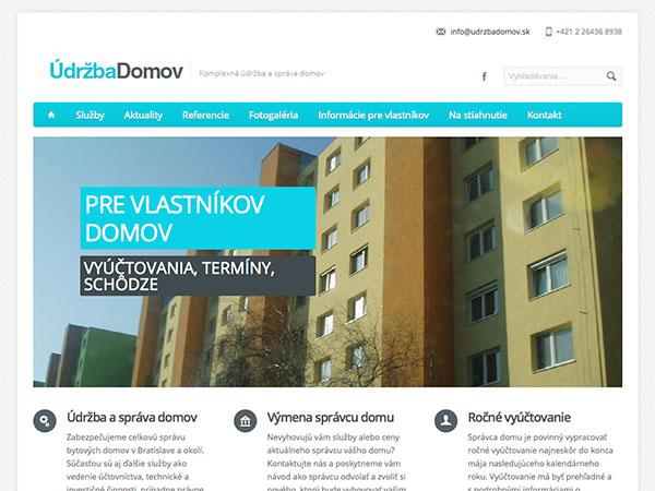 Webové stránky ÚDRŽBA DOMOV v.2